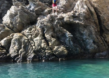 pause baignade kayak de mer baie de paulilles watersportaventure